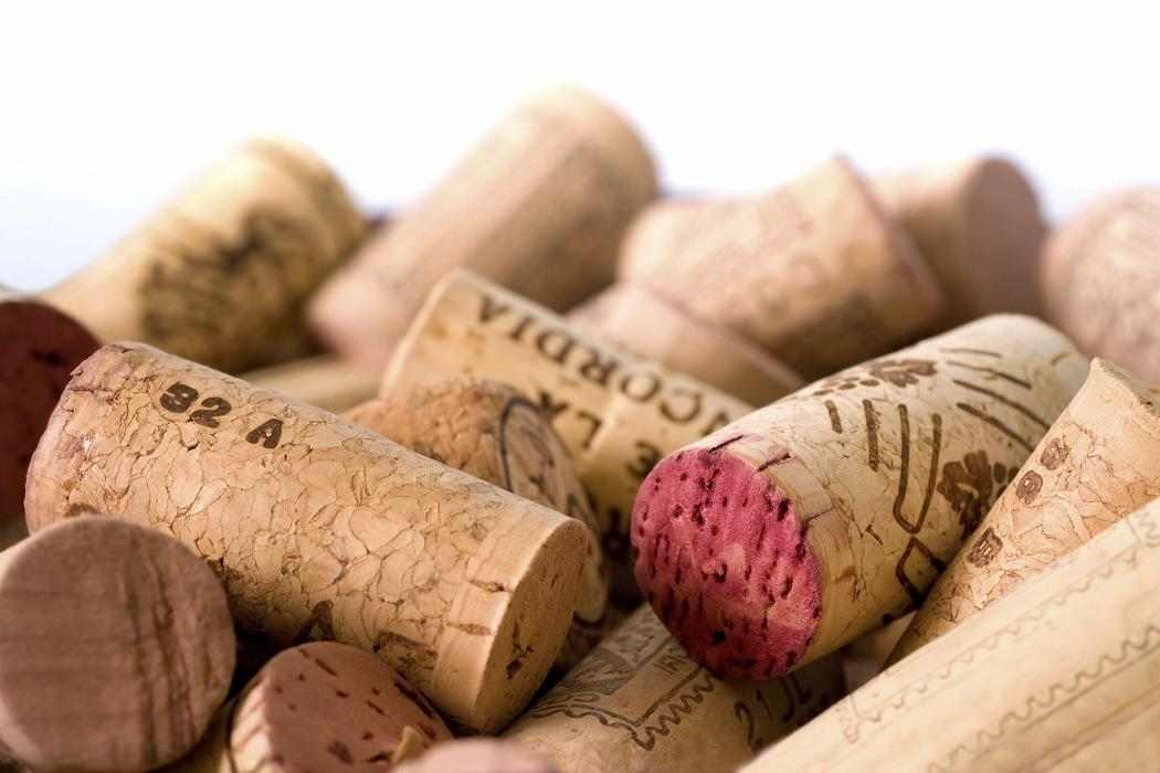 Wine Corks for recylcled flooring at Whole Foods