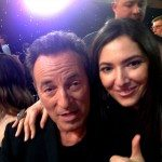 Artists Zhenya Gershman and Bruce Springsteen exchange compliments at the MusiCares gala celebration
