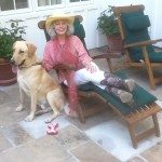 Nancy Chuda for Travels with Journey. Wardrobe compliments of Back at the Ranch, Santa Ynez, California, Carol Carr Couture Cowgirl Hat, Miami Florida