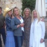 Nancy Chuda sports DoubleD Ranchwear with friends Rebecca Foster, Olivia Newton-John and Linda Grey Heitz