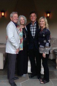 Jim and Nancy Chuda with John Easterling and Olivia Newton-John. Photo credit LuxEcoliving