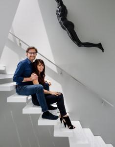 Photographs of Harvey and Nina Karp at their home in Pacific Palisades, LA, CA