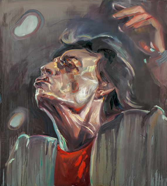 Zhenya Gershman, portrait of Mick Jagger, oil on canvas, 60 X 54 inches, 2014