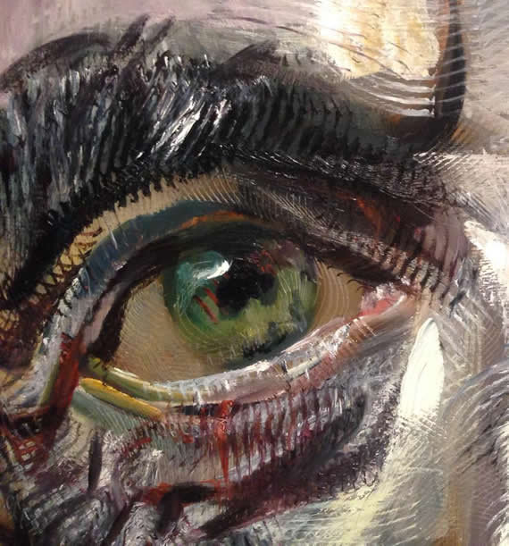 detail of a portrait by Zhenya Gershman, oil on canvas, 2014