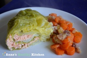 stuffed-cabbage-salmon-carrots-bacon
